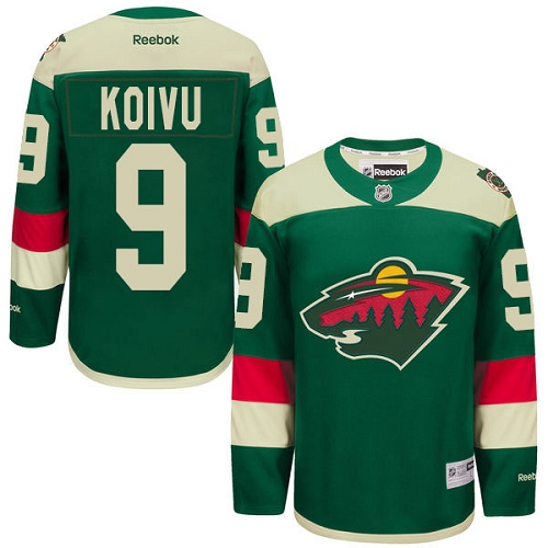 Youth Mats Zuccarello Premier Green Home Jersey: Hockey #36 Minnesota Wild