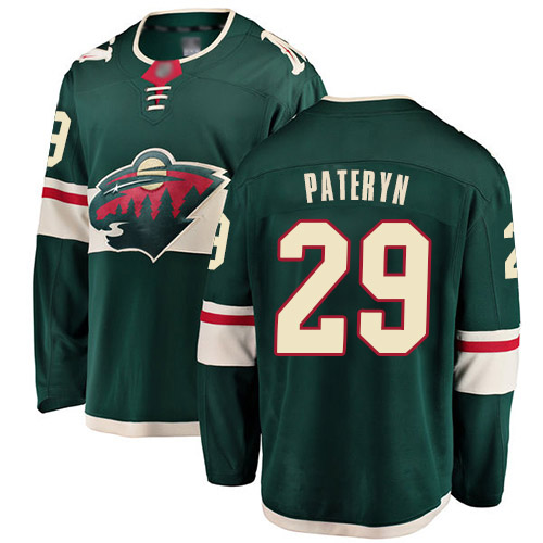 Fanatics Branded Men's Greg Pateryn Breakaway Green Home Jersey: Hockey #29 Minnesota Wild