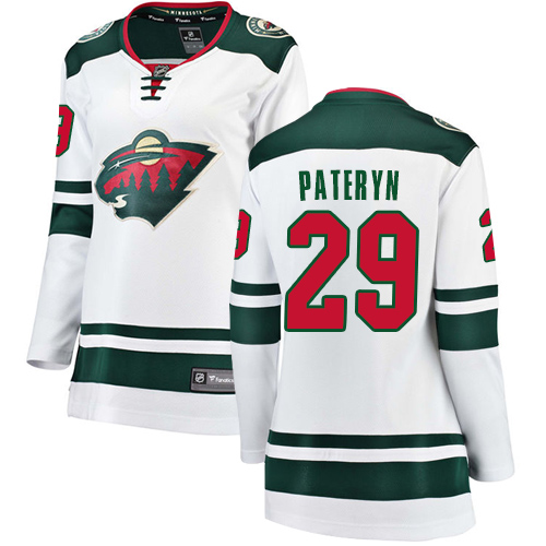 Fanatics Branded Women's Greg Pateryn Breakaway White Away Jersey: Hockey #29 Minnesota Wild