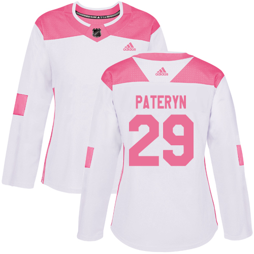 Women's Greg Pateryn Authentic White/Pink Jersey: Hockey #29 Minnesota Wild Fashion