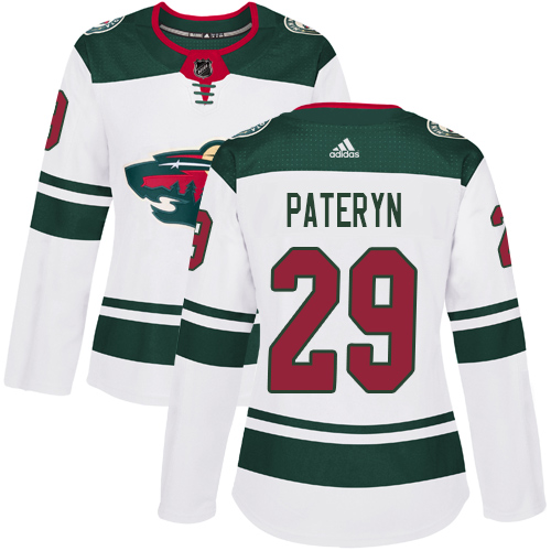 Women's Greg Pateryn Authentic White Away Jersey: Hockey #29 Minnesota Wild