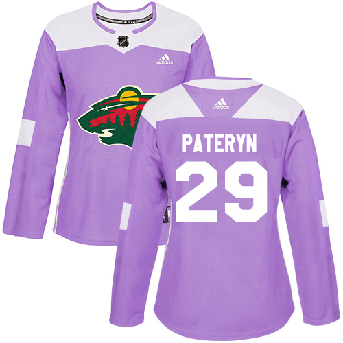 Women's Greg Pateryn Authentic Purple Jersey: Hockey #29 Minnesota Wild Fights Cancer Practice